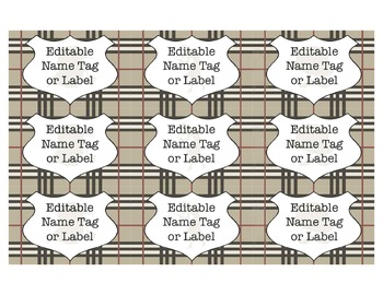 Detective Theme Name Tags or Labels *Editable*