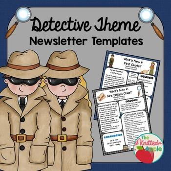 Detective Theme Newsletter Templates