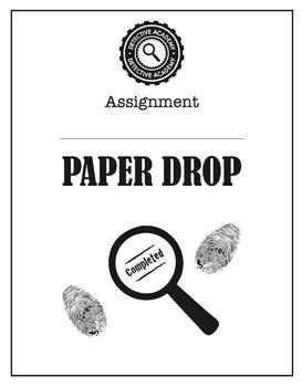 Detective Theme: Paper Drop (K-6)