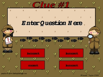 Detective Theme PowerPoint Game Template