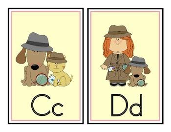 Detective Theme Word Wall Headers