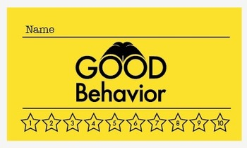 Detective Theme and No Theme: Good Behavior Punch Card (K-6)