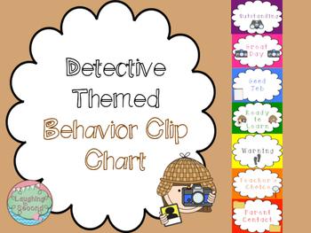 Detective Themed Behavior Clip Chart