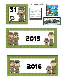 Detective Themed Calendar Cards