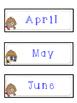 Detective Themed Calendar Set