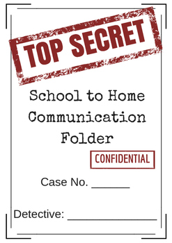 Detective Themed Daily School to Home Communication Folder Cover