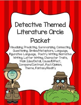 Detective Themed Literature Circle Packet: Use With Any Book