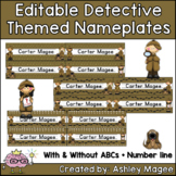 Detective Themed Nameplate/Deskplate/Nametags Editable