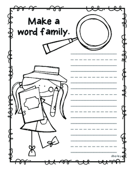 Detective Word Family Book