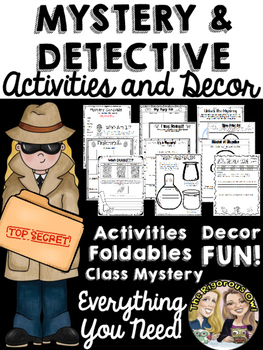 Detective and Mystery Activities, Decor, and MORE!