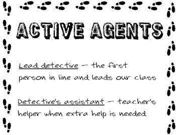 Classroom Jobs - Detective & Mystery Themed