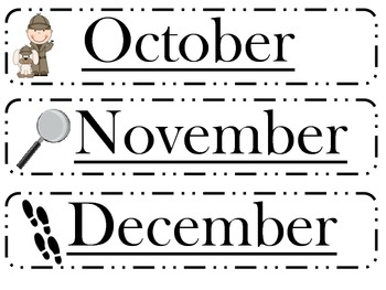 Detective months of the year