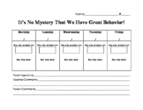 Detective or Mystery Themed Classroom Behavior Sheet