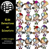 Detective or Scientist Kids Clip Art