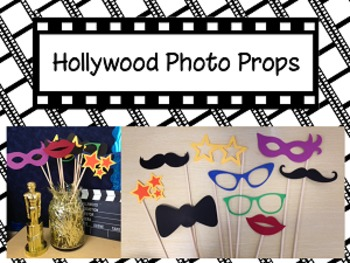 Hollywood Photo Booth Props {Silhouette Cut File}