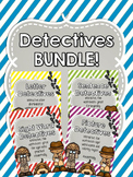 Detectives BUNDLE - Letters, Sight Words and Sentence practice worksheets