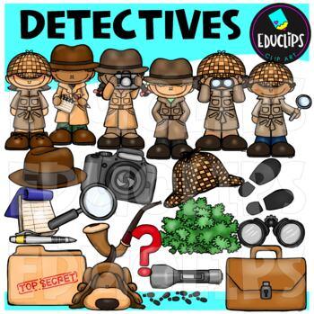 Detectives Clip Art Bundle (Educlips Clipart)