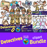 Detectives Clip Art Bundle