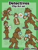 Detectives Clip Art Set