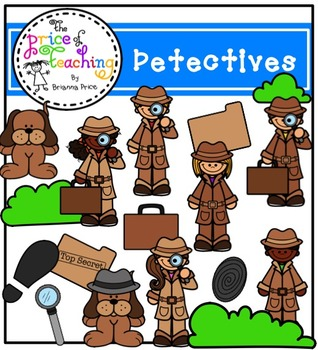 Detectives Clipart Set (The Price of Teaching Clipart Set)
