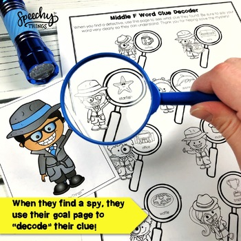 Spy Game - Early Sounds - Low Prep Articulation Activities for Preschoolers