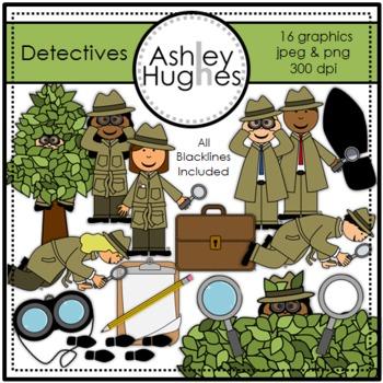 Detectives Clipart {A Hughes Design}