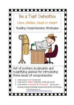 Detectives 4H Here, Hidden, Head and Heart Reading Comprehension Strategies