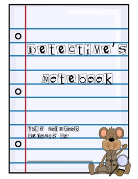 Detectives Notebook: Reading Activities for Mystery Chapter Books