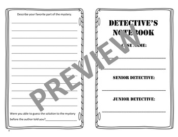 Detective's Notebook/Mystery Book Report