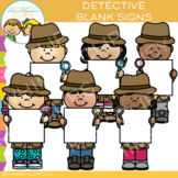 Blank Sign Detective Clip Art