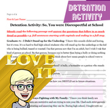 No Prep Detention Activity: So, You were Disrespectful at School