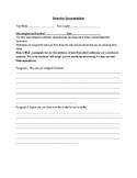 Detention Documentation & Reflection Essay