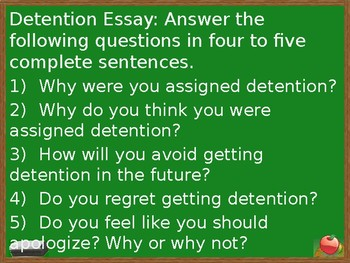 Detention Essay