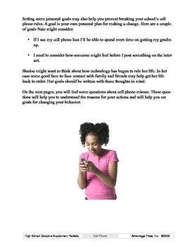 Detention Learning Packet: Cell Phone Use