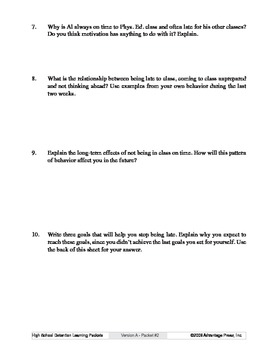 Detention Learning Packet: Late to Class