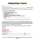 Detention Letter Home