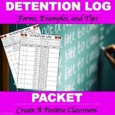 Detention Log Packet