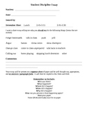 Detention Log, notice and essay
