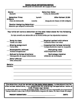 Detention Notice
