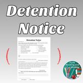 Detention Notice - Editable Parent Letter