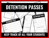 Detention Passes