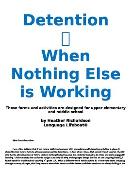 Detention--When Nothing Else Is Working