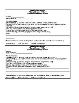 Detention reminders for students/PBIS citation/PBIS positive referral