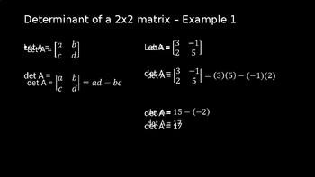 Determinants - PowerPoint Lesson (11.4)
