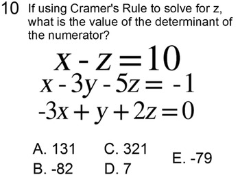 Determinants of 3x3 Matrices and Cramer's Rule for PDF