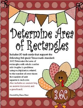 Determine Area of Rectangles (TEKS 3.6C)