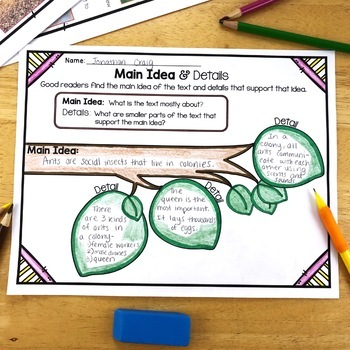 Determine Importance: Reading Comprehension Strategy Poster & Graphic Organizer
