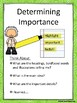 Determine Importance Anchor Chart and Worksheet