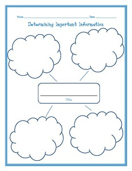 Determine Important Information Reading Strategy Graphic Organizer