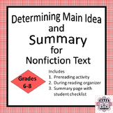 Determine Main Idea and Summary - Nonfiction